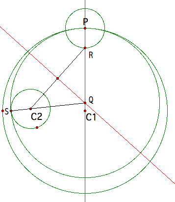 The dge between angles p and q is 3 centimetres