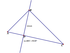 The Orthocenter Is The Point Of Concurrency Of The Three Altitudes - Altitudes