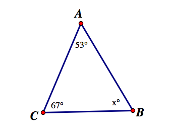 The figure below shows triangle ABC. Which side must be the longest ...