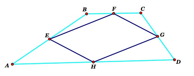 Inscribed parallelograms in quadrilaterals the figure above shows us a picture of such a situation we have the quadrilateral abcd and the quadrilateral efgh from the picture above it seems that the ccuart Images