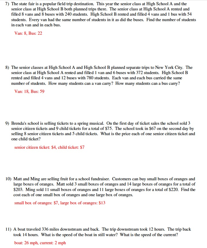 Warrayat Instructional Unit – Linear Inequalities Word Problems Worksheet