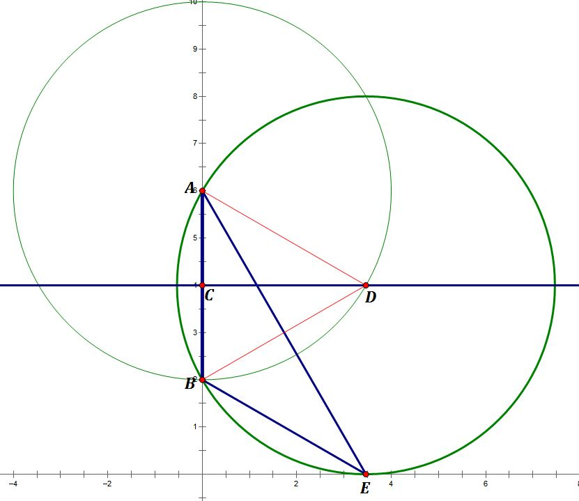 how to find the center of a circle with endpoints