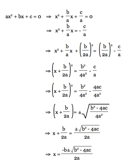 Free Worksheets worksheet on completing the square : Teaching the Derivation of the Quadratic Formula