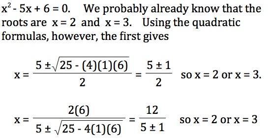 Teaching The Derivation Of The Quadratic Formula