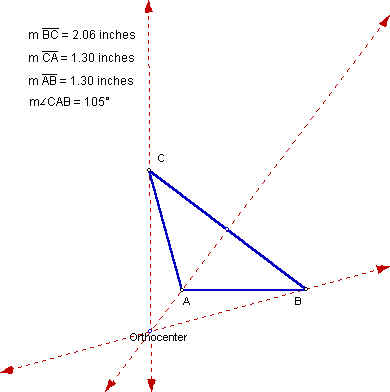how to find the orthocenter of an obtuse triangle