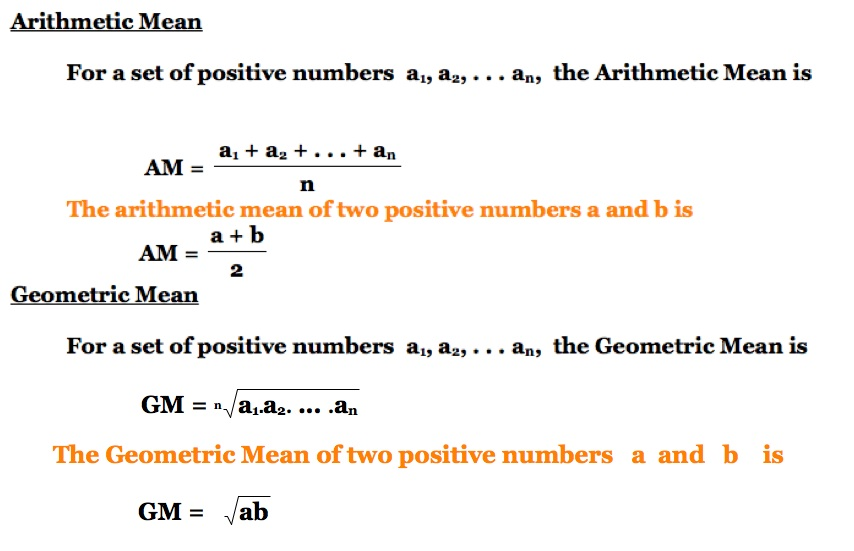arithmetic mean and sample