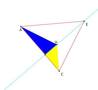 area of triangle. (CD)/(DE)  (Area of triangle